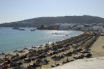 Platis Gialos Beach - Mykonos Beach with sunbeds facilities